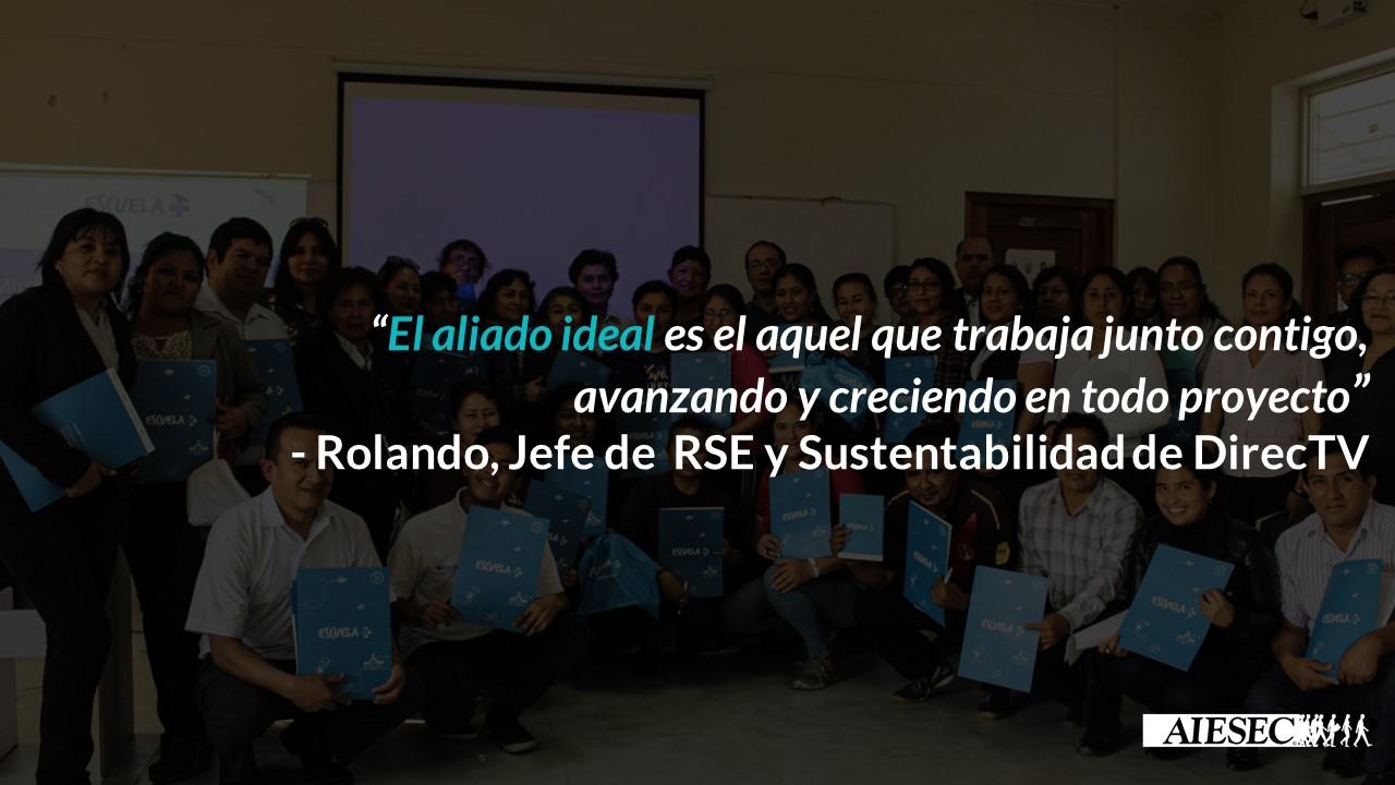 Entrevista a Rolando Dávila, Jefe de RSE y Sustentabilidad de DirecTV
